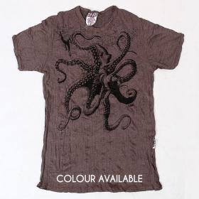 "Camiseta \""Octopus\"", marrón"
