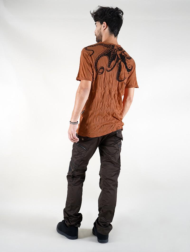 "Camiseta \""Octopus\"", naranja"