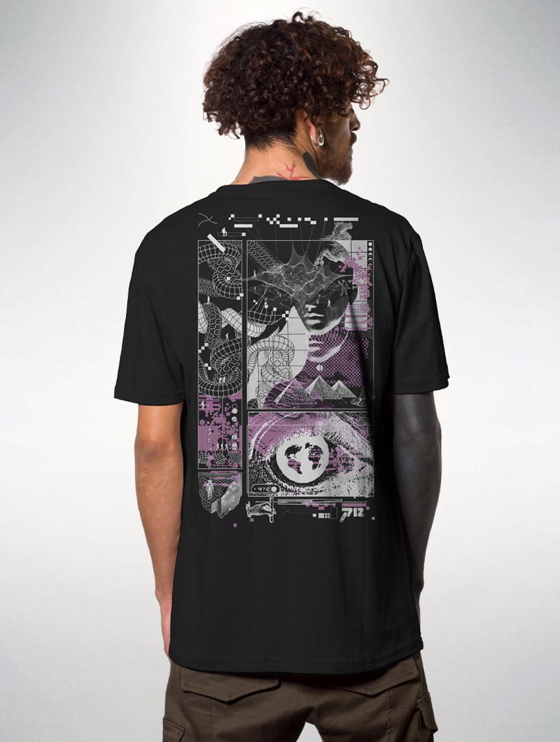 "Camiseta \""Pixel Generation\"", Negro"