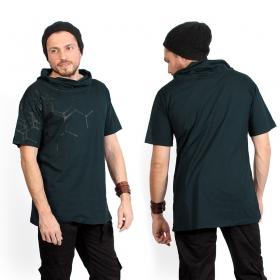 """Camiseta \""""Pollux\"""", Azul petróleo y negro"""