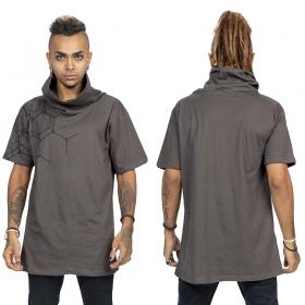 """Camiseta \""""Pollux\"""", Gris carbón y negro"""