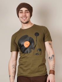 "Camiseta ""Record painter\"", Verde caqui claro"