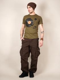 """Camiseta \""""Record painter\"""", Verde caqui claro"""