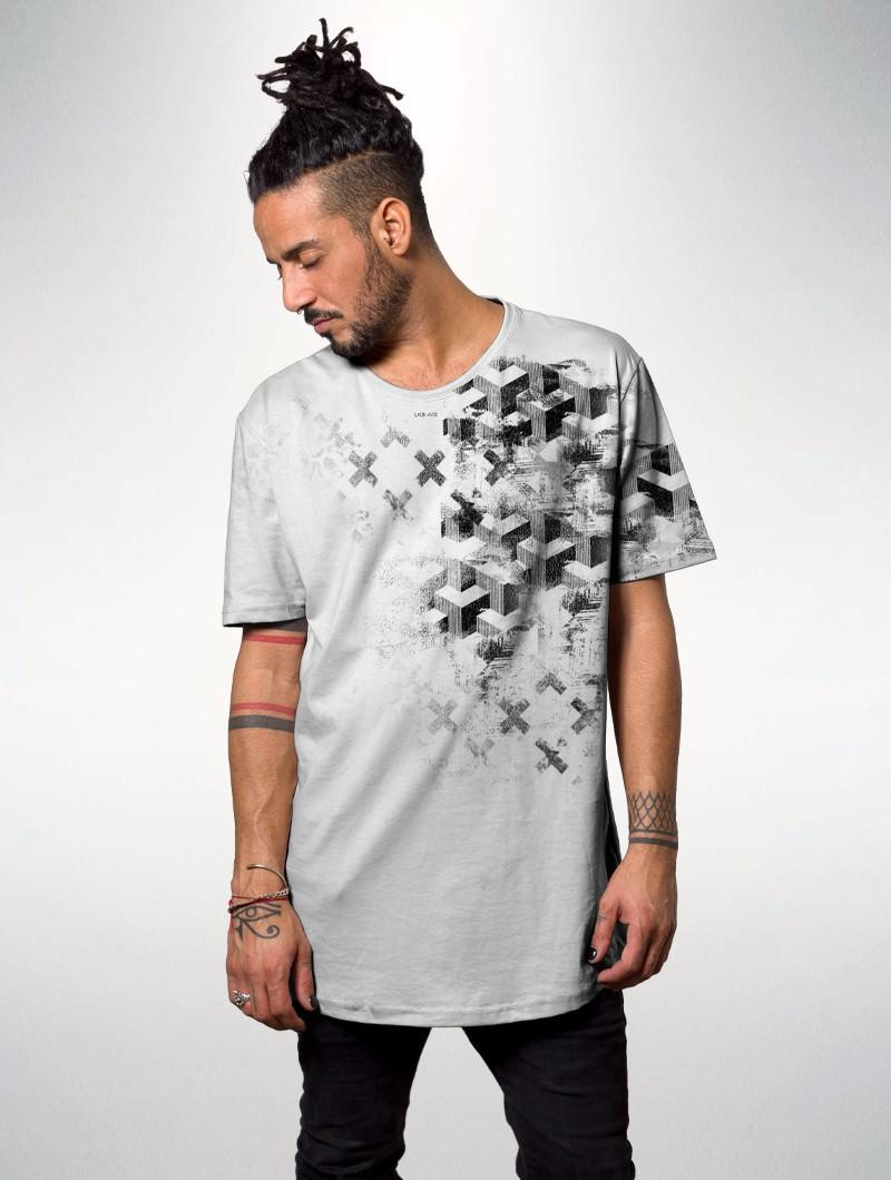 "Camiseta \""Sengoku\"", Blanco"