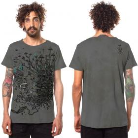 "Camiseta \""Shroombeard\"", Gris descolorido"