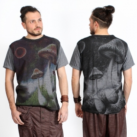 "Camiseta ""Shrooms in space\"", Gris oscuro"