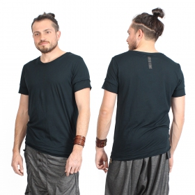 """Camiseta \""""Siam\"""", Azul petróleo y negro"""