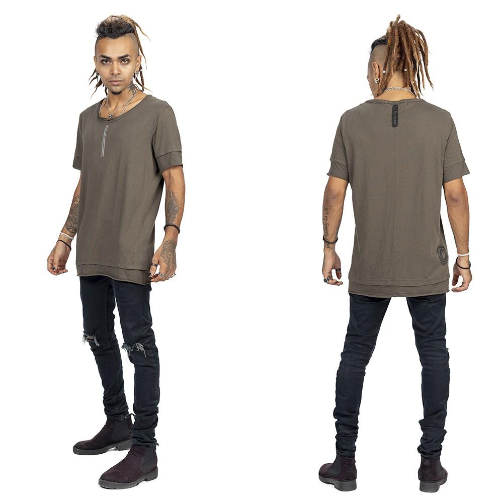 """Camiseta \""""Siam\"""", Gris carbón y plateado"""