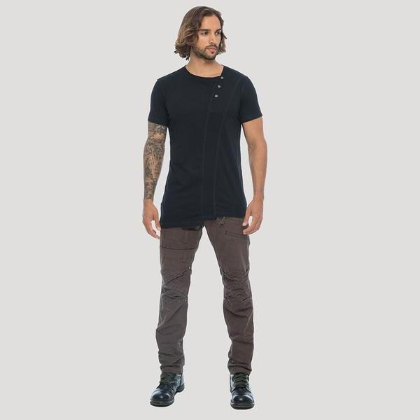 """Camiseta \""""Slanted Remix\"""", Negro"""