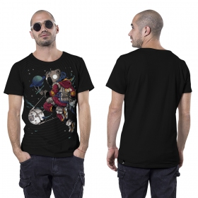 "Camiseta \""Space Koala\"", Negro"