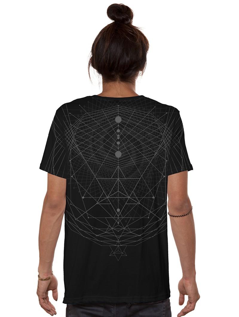 """Camiseta \""""Spiral C\"""", Negro"""