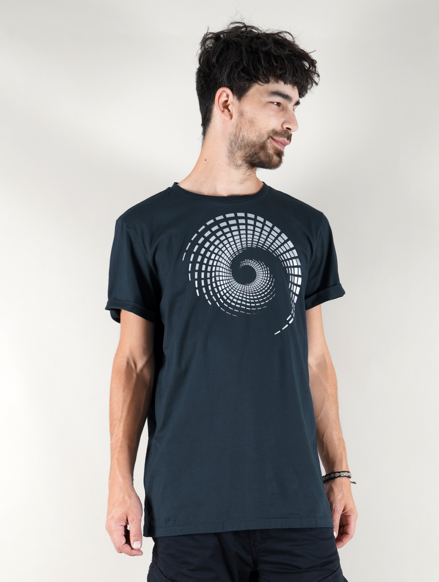 "Camiseta \""Spiral Tierra\"", Azul petróleo"