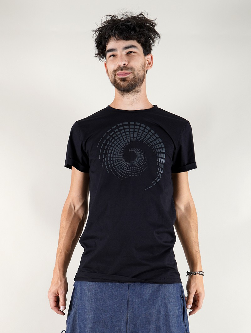 "Camiseta \""Spiral Tierra\"", Negro"