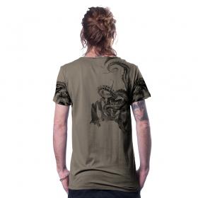 "Camiseta \""Stoned\"", Beige oscuro"