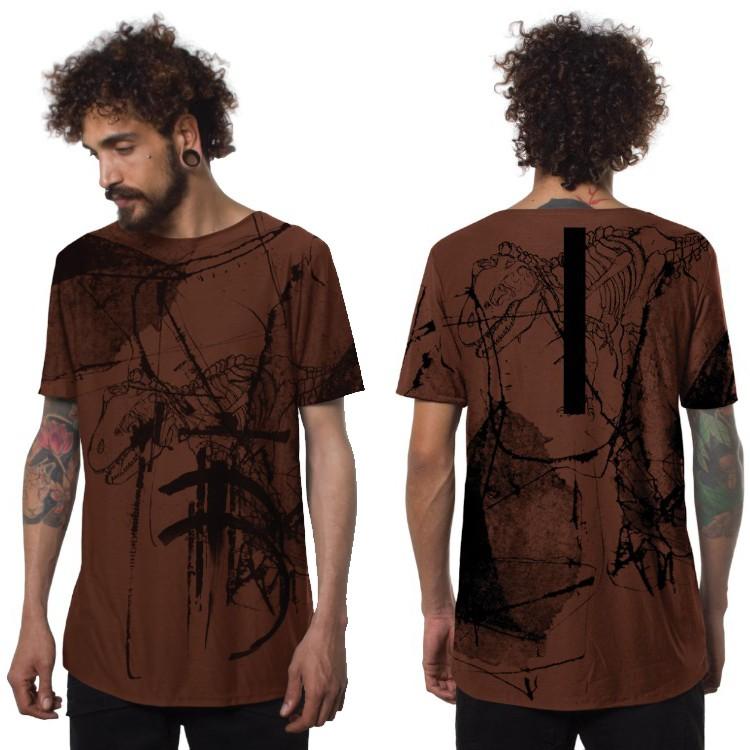 """Camiseta \""""T-Rex\"""", Anaranjado"""