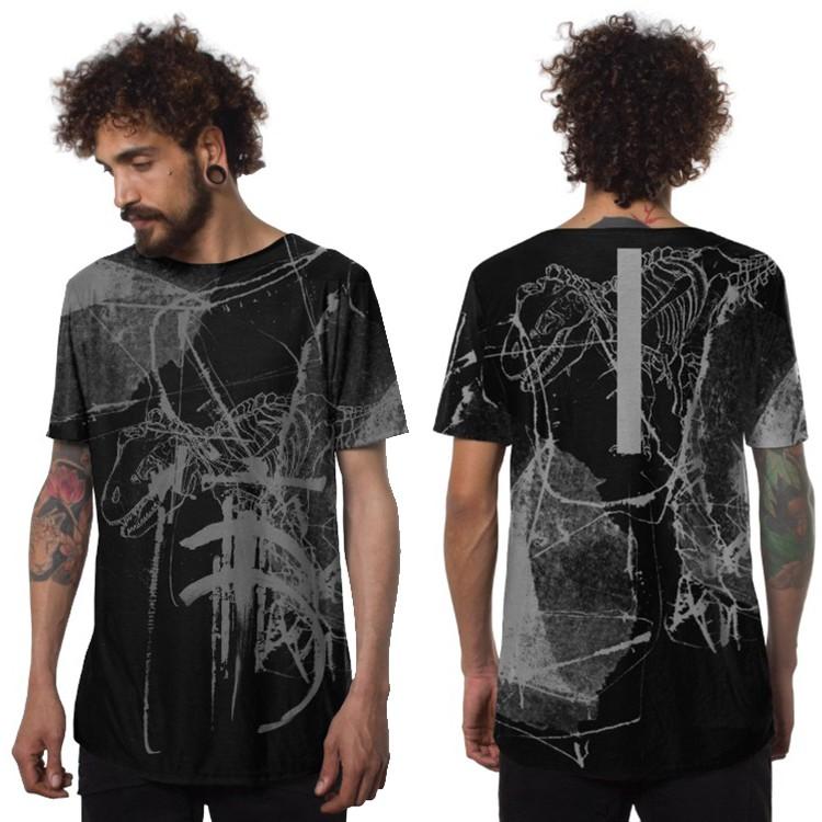 """Camiseta \""""T-Rex\"""", Negro"""
