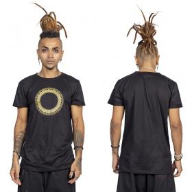 """Camiseta \""""Tierra Helios\"""", Negro y dorado"""