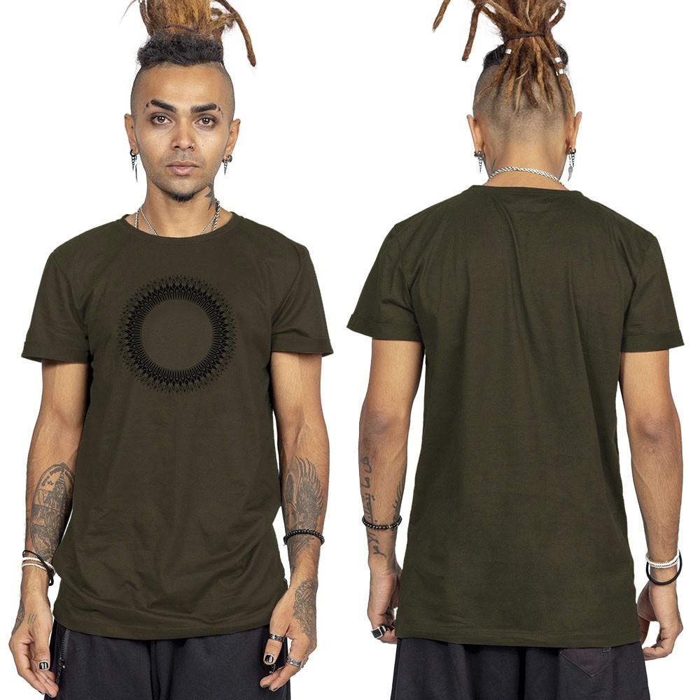 """Camiseta \""""Tierra Helios\"""", Verde caqui and black"""