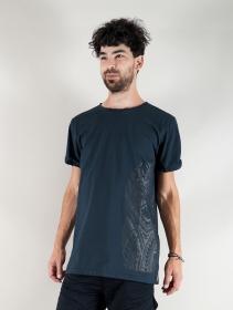 "Camiseta \""Tierra Maori\"", Azul petróleo"