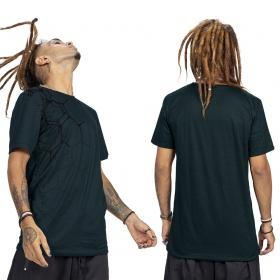 """Camiseta \""""Tierra Pollux\"""", Azul petróleo y negro"""