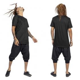 """Camiseta \""""Tierra Pollux\"""", Gris carbón y gris carbón y negro"""