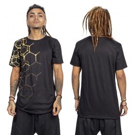 """Camiseta \""""Tierra Pollux\"""", Negro y dorado"""