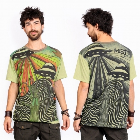 "Camiseta \""U.F.O.\"", Verde"