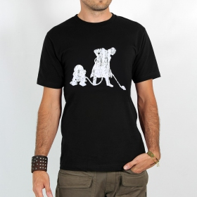 """Camiseta \""""Vader Aspirador R2D2\"""", Negro"""