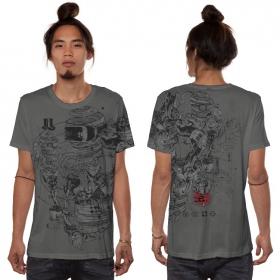 "Camiseta \""VR\"", Gris oscuro"