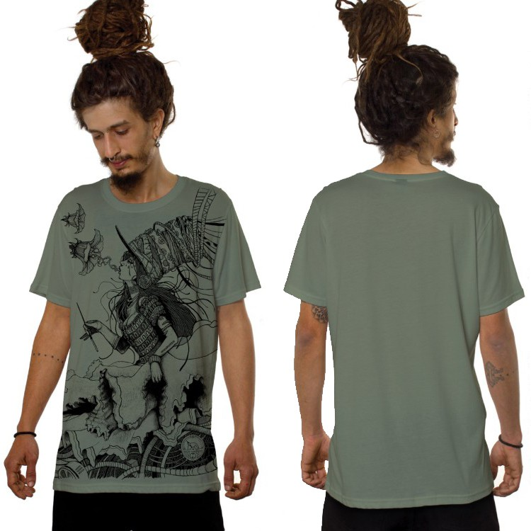 "Camiseta ""Witch\"", Verde claro"