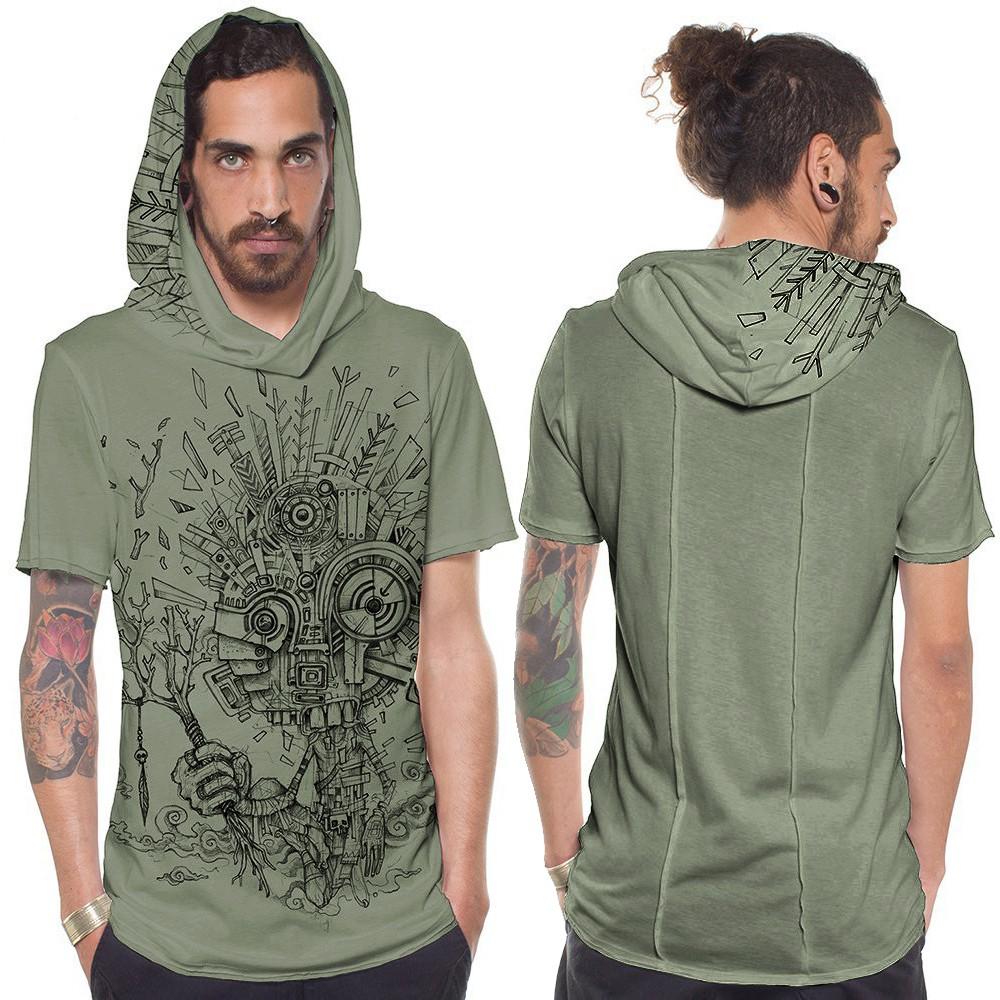 """Camiseta \""""Wood Spirit\"""", verde claro"""