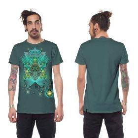 "Camiseta \""Yogi Traveller\"", Turquesa"
