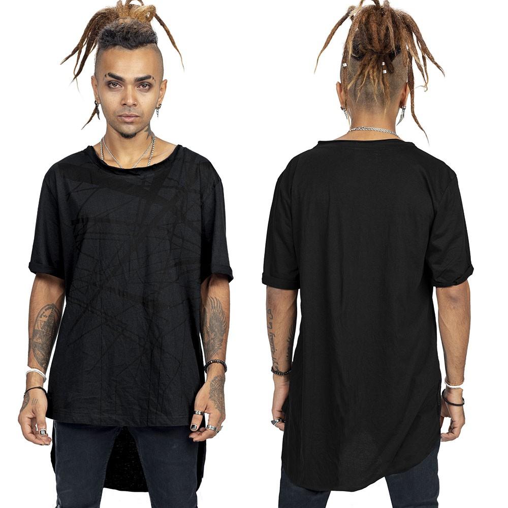 "Camiseta asimétrico \""Anubis\"", Noir"