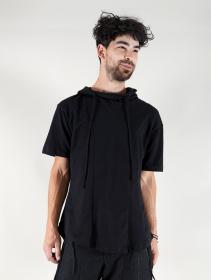 "Camiseta con capucha \""Aldaron\"", Negro"
