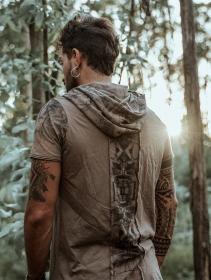 "Camiseta con capucha \""Geomeister\"", Beige oscuro"