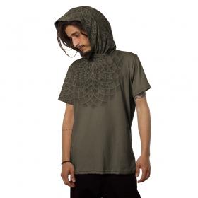 """Camiseta con capucha \""""Lotus\"""", Beige"""