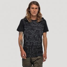 """Camiseta con capucha \""""Playa\"""", Negro"""