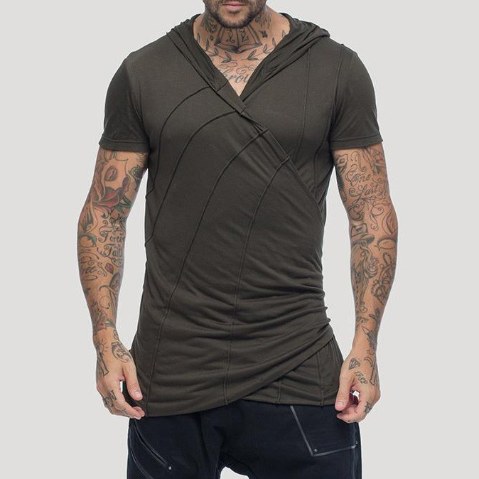 """Camiseta con capucha \""""Samuraï\"""", Verde caqui"""