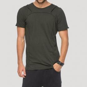 """Camiseta con capucha \""""Shelter\"""", Verde caqui"""
