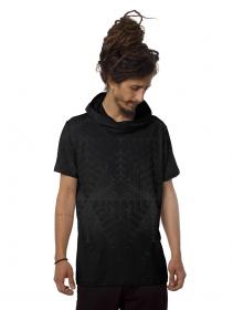 "Camiseta con capucha \""Tenso\"", Negro"