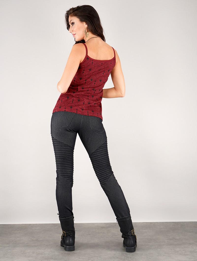 "Camiseta con tirantes \""Ciryandil Peafowl\"", Rojo"