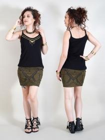"Camiseta con tirantes \""Lotus Ciryandil\"", Negro"