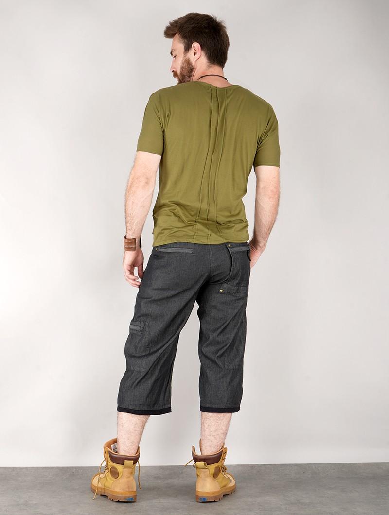 "Camiseta de manga corta \""Pharaoh\"", Verde oliva"