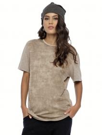 """Camiseta de manga corta unisex \""""Volcanic\"""", Gris beige"""