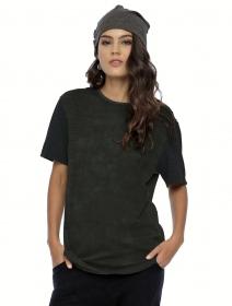 """Camiseta de manga corta unisex \""""Volcanic\"""", Verde oliva"""