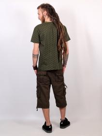 "Camiseta de mangas cortas \""Amun Kikko\"", Verde caqui"