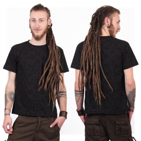 """Camiseta de mangas cortas \""""Amun Shipibo\"""", Negro"""