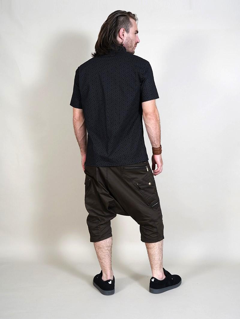 "Camiseta de mangas cortas \""Helios Swastika\"", Negro"