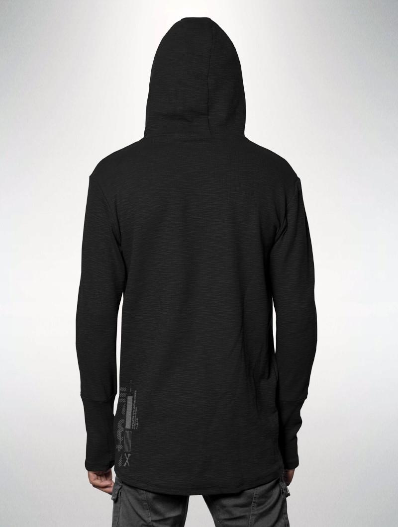 """Camiseta de mangas largas \""""Cujam\"""", Negro"""