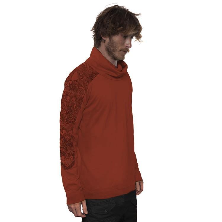 """Camiseta de mangas largas \""""Floral Mach\"""", Marrón anaranjado"""